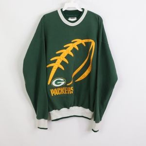 90s Mens Medium Green Bay Packers Crew Sweatshirt